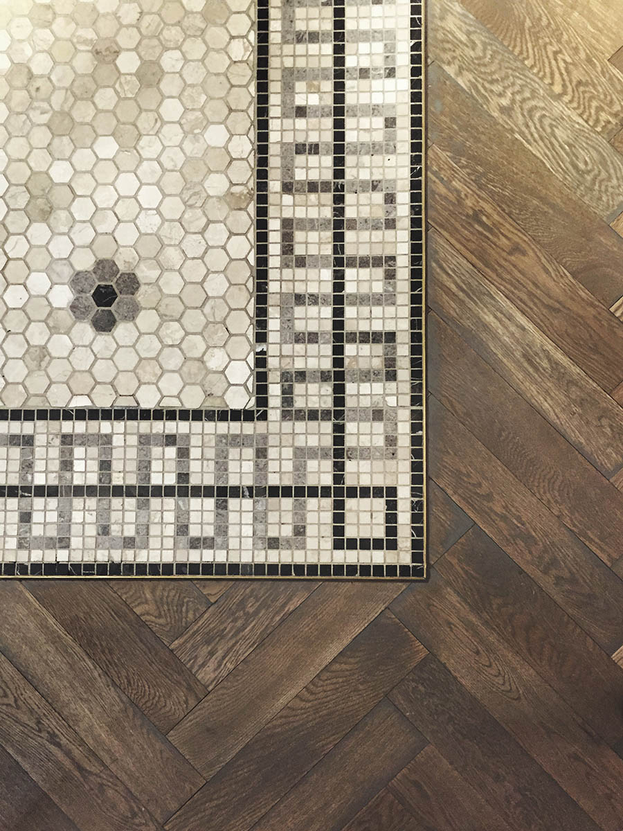 Background,Of,Mosaic,Tiled,Floor,With,Parquetry,Floorboards